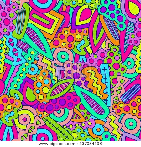 Doodle Abstract Ethnic Elements Pattern Colorful 3