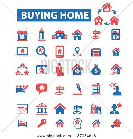 buying home, real estate, agency, house sale, furniture, agent, construction, rent, building, comfort living, condominium icons, signs vector icons