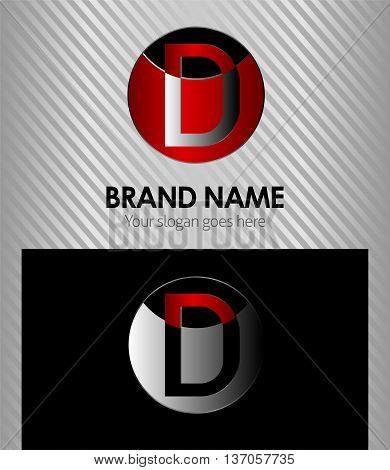 Logo for letter D Logo for letter D