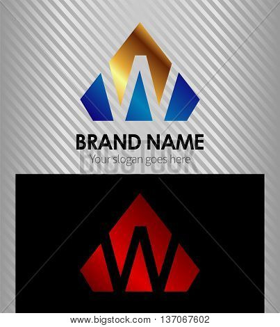 Vector - Letter W logo icon template design vector