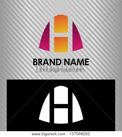 Abstract Letter h Icon logo template design vector