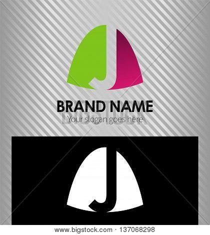 Abstract Letter j Icon logo template design vector