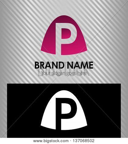 Abstract letter p logo Abstract letter p logo