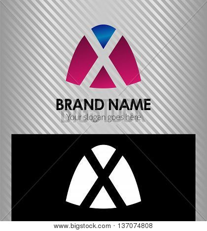 Abstract letter x logo Abstract letter x logo