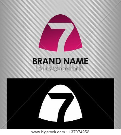7 logotype design. 7 logotype design template design vector