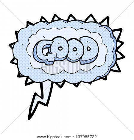freehand drawn comic book speech bubble cartoon Good symbol