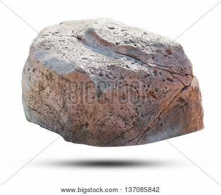 Big rock isolated on white background. Object with clipping path.