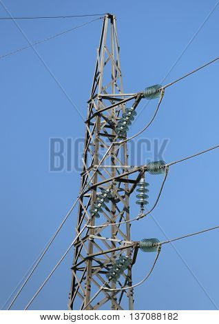 High Galvanized Iron Trellis With High-voltage Electrical Wires
