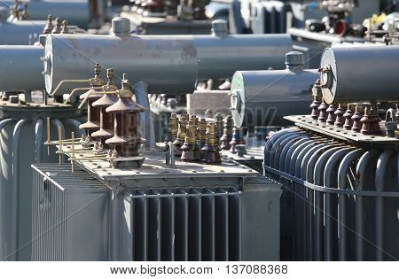 Electric Voltage Transformers In The Landfill For Special Waste