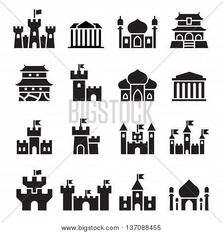 Castle & palace icons Vector illustration graphic design