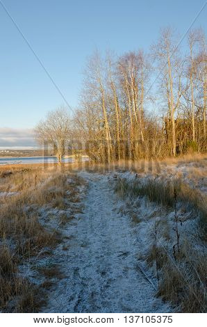 winter in sweden on the westcoast. Stigfjorden betwhen Tjorn and Orust