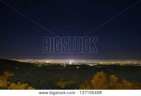 The night lights of Paphos in Cyprus.