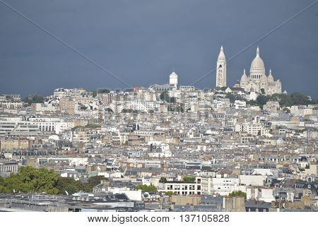 White and beautiful Montmartre / View of Paris