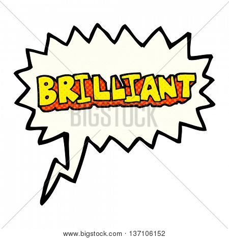 brilliant freehand drawn comic book speech bubble cartoon word