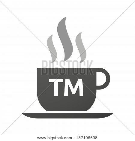 Coffee Mug Icon With    The Text Tm