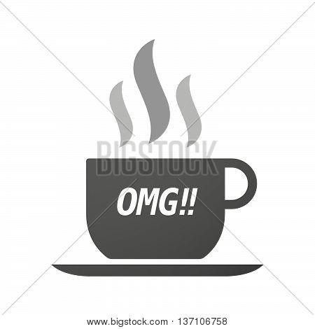Coffee Mug Icon With    The Text Omg!!