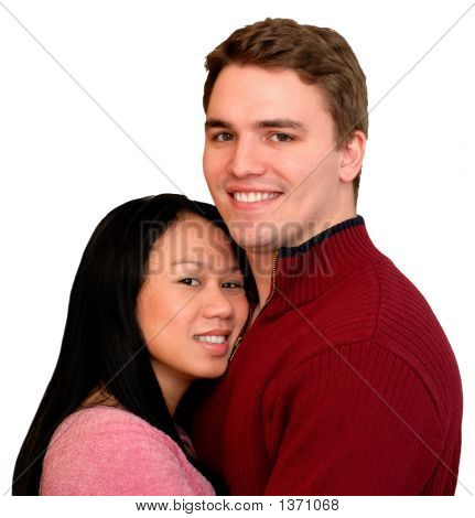 Happy Young Couple, Isolated