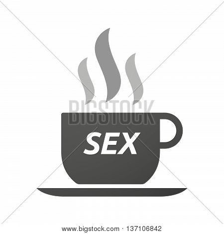 Coffee Mug Icon With    The Text Sex