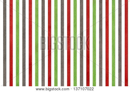 Watercolor Green, Dark Red And Grey Striped Background.