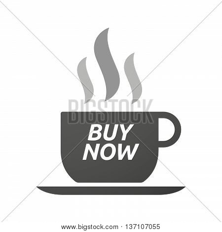 Coffee Mug Icon With    The Text Buy Now