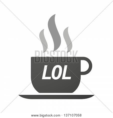 Coffee Mug Icon With    The Text Lol