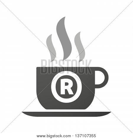 Coffee Mug Icon With    The Registered Trademark Symbol