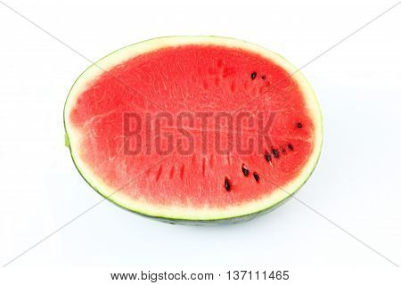 Close-up water melon fruit on white background