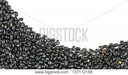 Black Beans  Isolated On White Background