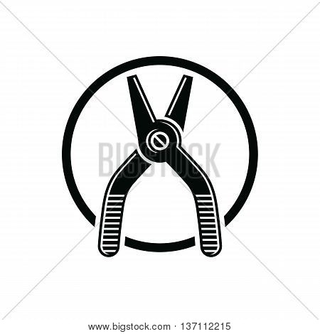 Pliers Icon, For Use In Reparation, Carpentry, Building. Detailed Vector Illustration Of Nippers, Re