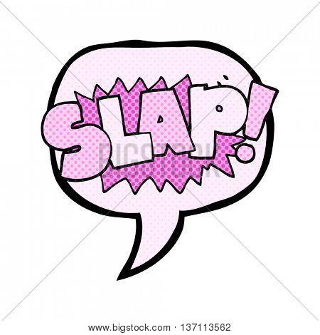 freehand drawn comic book speech bubble cartoon slap symbol