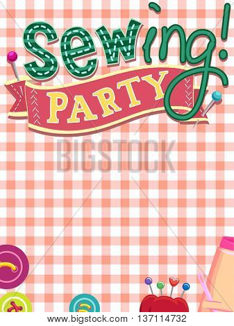Ready to Print Invitation Card for a Sewing Party