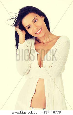 Happy summer woman