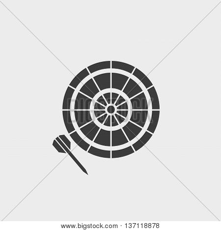 darts icon in a flat design in black color. Vector illustration eps10
