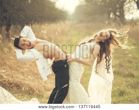 Sexy Wedding Couple