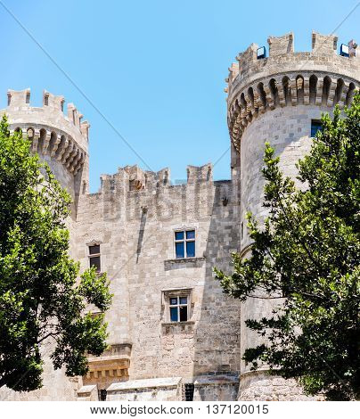 Palace of the Grand Master of the Knights of Rhodes also known as the Kastello. A medieval castle in the city of Rhodes.