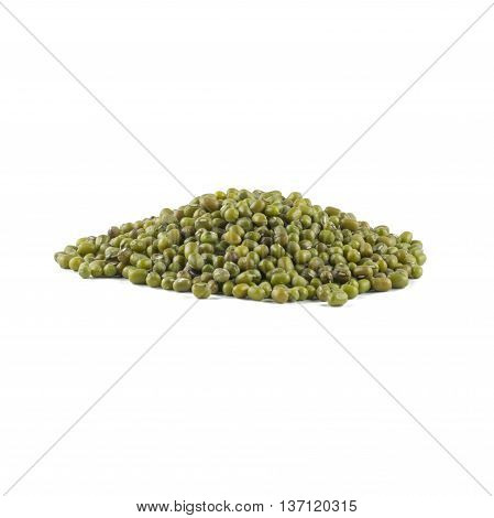 seed mung beans isolated on white background
