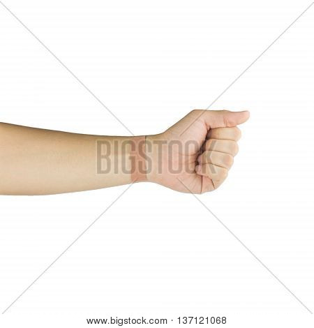 plaster on wrist isolated on white background