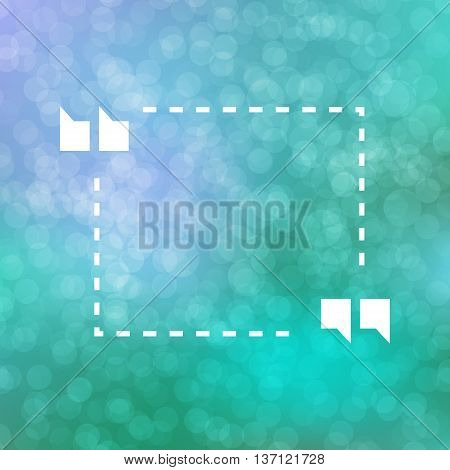 Quote Illustration Poster on beige bokeh background. Merry Christmas and Happy New Year party invitation card