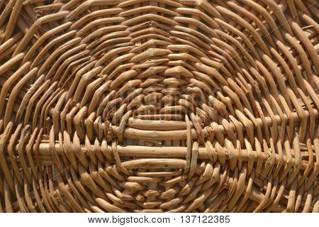 wicker wooden basket abstract background and texture