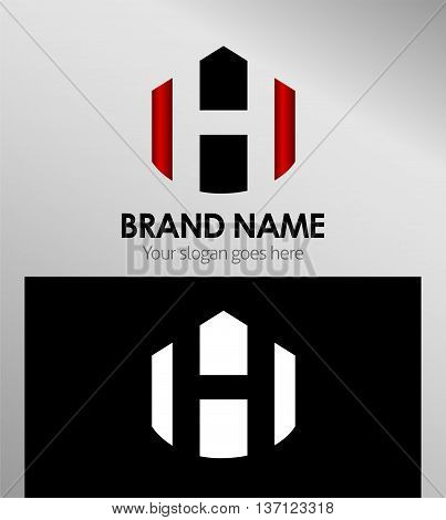 Abstract Letter h Icon Abstract Letter h Icon