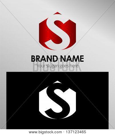 Letter s Alphabetical Logo Design Concepts template design vector