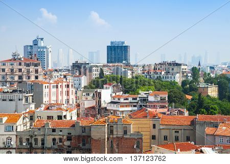 Istanbul, Turkey. Cityscape With Old Town
