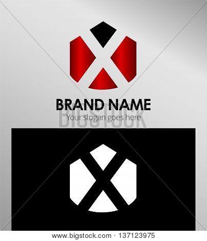 Letter x Alphabetical Logo Design Concepts template design vector