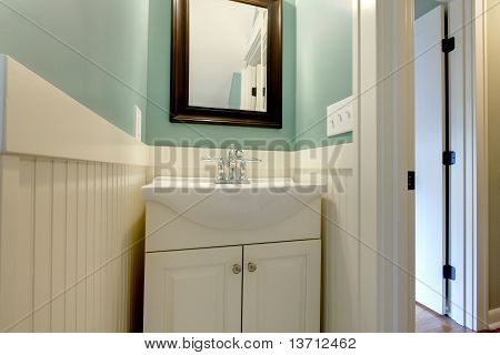 Luxury Fresh Green Blue And White Modern Bathroom Sink