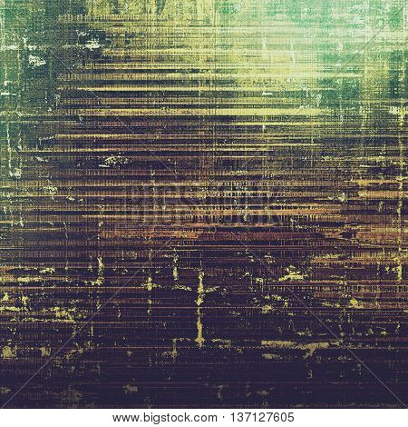 Abstract grunge background or damaged vintage texture. With different color patterns: yellow (beige); brown; green; black; gray; purple (violet)