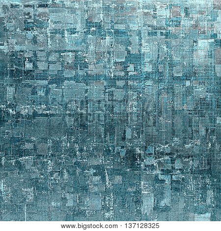 Abstract retro design composition. Stylish grunge background or texture with different color patterns: blue; gray; cyan; white