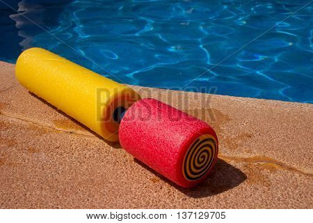 Water toy at the border of the swimming pool