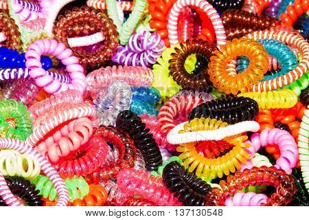 Colorful Elastics For Hair