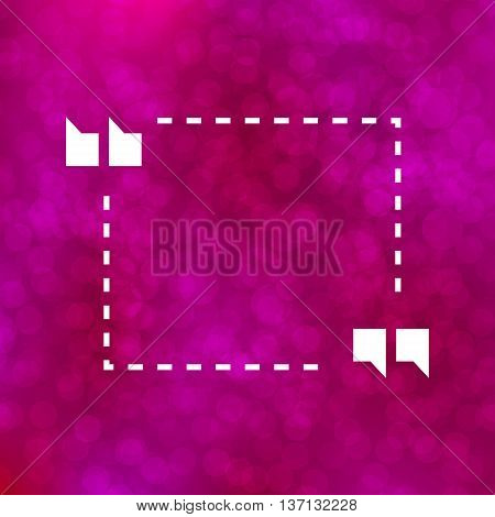 Quote Illustration Poster on purple bokeh background. Merry Christmas and Happy New Year party invitation card