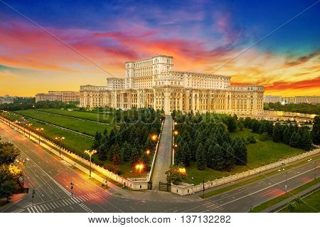 Bucharest City In Romania